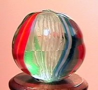 """75017: 75017 BB Marbles: Latticinio Swirl 9/16"""" 9.8"""