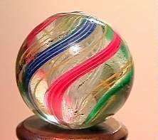 """75021 BB Marbles: Latticinio Swirl 21/32"""" 9.7"""