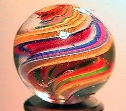 """75022: 75022 BB Marbles: Ribbon Swirl 25/32"""" 8.5"""