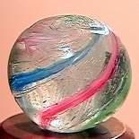 """75024 BB Marbles: Latticinio Swirl 17/32"""" 9.7"""