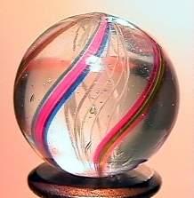 """75052 BB Marbles: Latticinio Swirl 3/4"""" 9.6"""