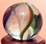 """75053 BB Marbles: Latticinio Swirl 17/32"""" 9.0"""