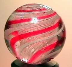"""75058 BB Marbles: Latticinio Swirl 25/32"""" 8.5"""