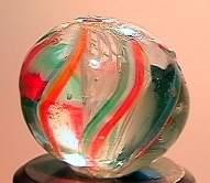 """75063 BB Marbles: Latticinio Swirl 9/16"""" 8.5"""