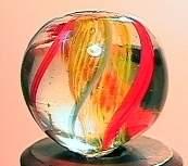 """75066 BB Marbles: Latticinio Swirl 19/32"""" 9.4"""