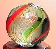 """75071 BB Marbles: Latticinio Swirl 9/16"""" 9.9"""
