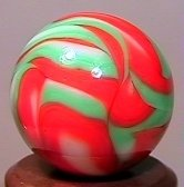 "76020: 76020 BB Marbles: CAC Flame Swirl 19/32"" 9.9"