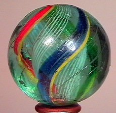 "77004: 77004 BB Marbles: Divided Core swirl 1-7/16"" 8.2"