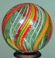 """77005 BB Marbles: Latticinio Swirl 1-3/16"""" 8.4"""