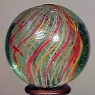 """77006 BB Marbles: Latticinio Swirl 1-3/16"""" 8.7"""