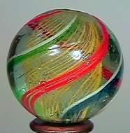 """77007 BB Marbles: Latticinio Swirl 1-3/16"""" 8.8"""