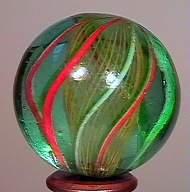 """77008 BB Marbles: Latticinio Swirl 1-3/16"""" 8.8"""