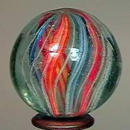 """77010 BB Marbles: Divided Core Swirl 1-3/16"""" 8.8"""