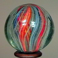 "77010: 77010 BB Marbles: Divided Core Swirl 1-3/16"" 8.8"