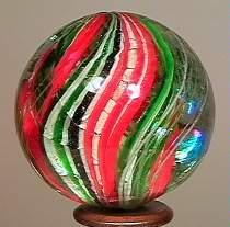 "77011 BB Marbles: Swirl with Aventurine 1-5/16"""