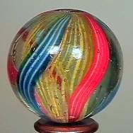 """77012 BB Marbles: Latticinio Swirl 1-1/8"""" 8.8"""