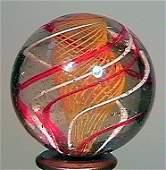 """77014: 71014 BB Marbles: Latticinio Swirl 1-3/16"""" 8.7"""