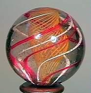 """71014 BB Marbles: Latticinio Swirl 1-3/16"""" 8.7"""