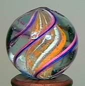 """77016 BB Marbles: Latticinio Swirl 3/4"""" 9.7"""