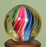 """77018 BB Marbles: Solid Core Swirl 21/32"""" 9.1"""