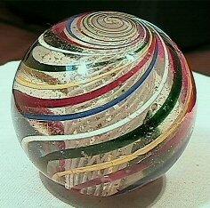 5: BB Marbles: Huge Latticinio Swirl