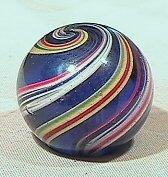 14: BB Marbles: Cobalt Blue Base Latticinio