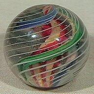 19: BB Marbles: 3-Layer Ribbon Core Swirl