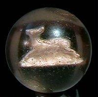 "78007: 78007 BB Marbles: Running Deer Sulphide 1-13/16"""