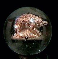 """78014: 78014 BB Marbles: Razorback Sulphide 1-7/16"""" 9.1"""