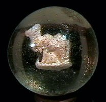 78022: 78022 BB Marbles: Bactrian Camel Sulphide 1-7/16