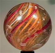 """80002: 80002 BB Marbles: Latticinio Swirl 2-1/4"""" 7.2"""