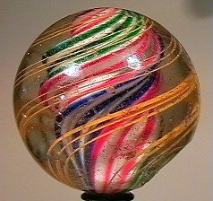 """80003: 80003 BB Marbles: Solid Core Swirl 2-3/8"""" 7.2"""