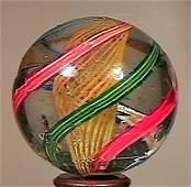 """80006: 80006 BB Marbles: Latticinio Swirl 1-3/8"""" 7.6"""