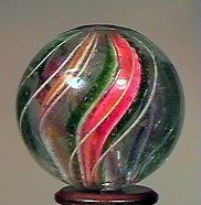 """80007: 80007 BB Marbles: Divided Core Swirl 1-1/16"""" 9.5"""