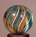 """80012: 80012 BB Marbles: Latticinio Swirl 27/32"""" 9.0"""