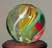 """80018: 80018 BB Marbles: Latticinio Swirl 9/16"""" 9.5"""