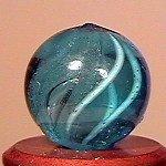 """80019: 80019 BB Marbles: Latticinio Swirl 1/2"""" 9.5"""