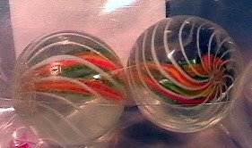80020: 80020 BB Marbles: Matched Pair Divided Core Swir