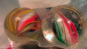 80023: 80023 BB Marbles: 2 Solid Core Swirls