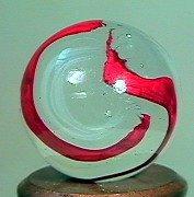 80209: 80209 BB Marbles: Akro Silver Oxblood
