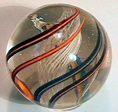 81002 BB Marbles: Latticinio Core Swirl 1-15/16""