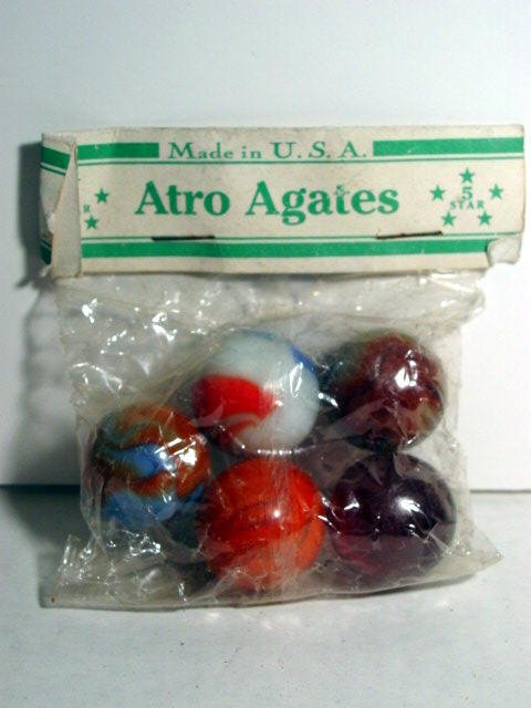 82015: 82015 BB Marbles: Atro Agate Fantasy Poly Bag