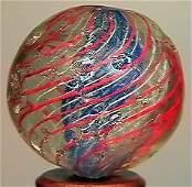 85007: 85007 BB Marbles: Very Rare Latticino Swirl 1-1/