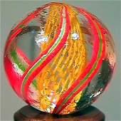 """85016: 85016 BB Marbles: Latticinio Swirl 25/32"""" 9.9"""
