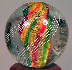 "85017: 85017 BB Marbles: Solid Core Swirl 25/32"" Buffed"