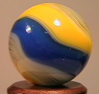 "84001 BB Marbles: Akro B/Y Popeye 21/32"" 9.0 AKRO AGATE"