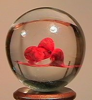 84005 BB Marbles: Mushrooms in Clear CONTEMPORARY HANDM