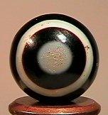 84007 BB Marbles: Handcut Bullseye Dyed Agate NON-GLASS