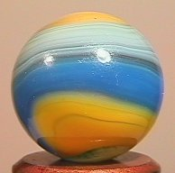 "84012 BB Marbles: Akro B/Y Popeye 5/8"" 9.9 AKRO AGATE C"