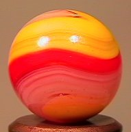 "84015 BB Marbles: Akro R/Y Popeye 5/8"" 9.7 AKRO AGATE C"